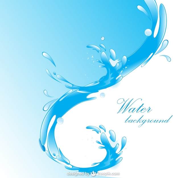 Acqua libera sfondo Vettore gratuito