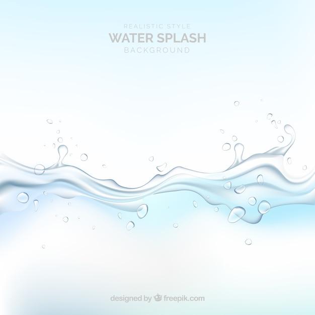 Acqua splash sfondo in stile realistico Vettore gratuito