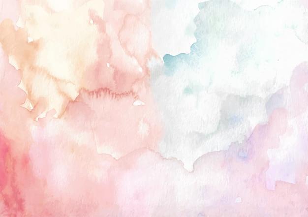 Acquerelli spazzolando colori misti Vettore Premium