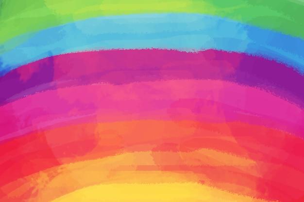 Acquerello arcobaleno copia spazio Vettore gratuito