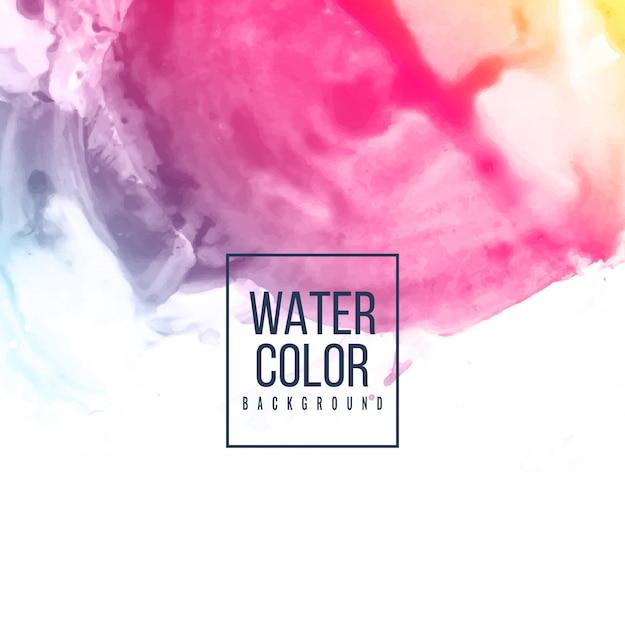 Acquerello astratto sfondo colorato Vettore gratuito