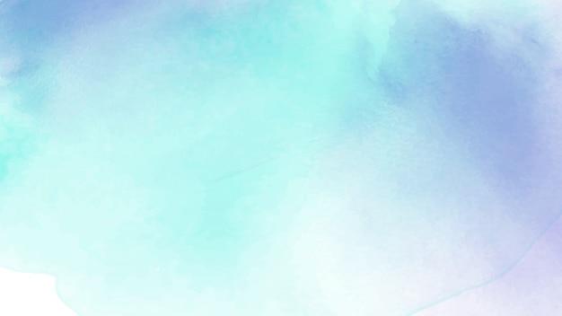 Acquerello blu e viola dipinto a mano astratto per fondo. Vettore Premium