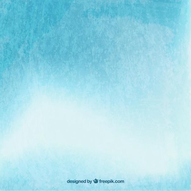 Acquerello cielo azzurro e nuvole di sfondo Vettore gratuito