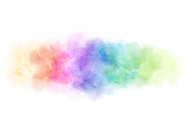 Acquerello colorato astratto che spruzza sfondo. Vettore Premium