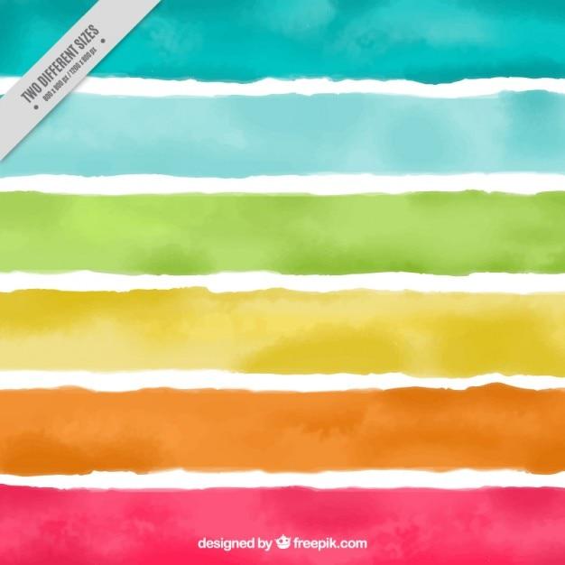 Acquerello colorato sfondo a strisce Vettore Premium