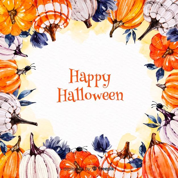 Acquerello colorato sfondo di halloween Vettore Premium