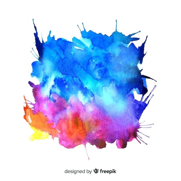 Acquerello colorato splash background Vettore gratuito