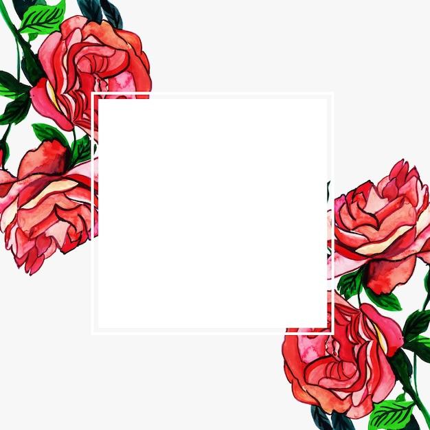 Acquerello cornice floreale multiuso per le celebrazioni Vettore gratuito