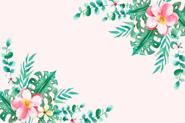 Acquerello floreale estate sfondo Vettore gratuito
