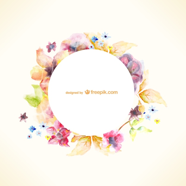 Acquerello floreale illustrazione di arte Vettore gratuito