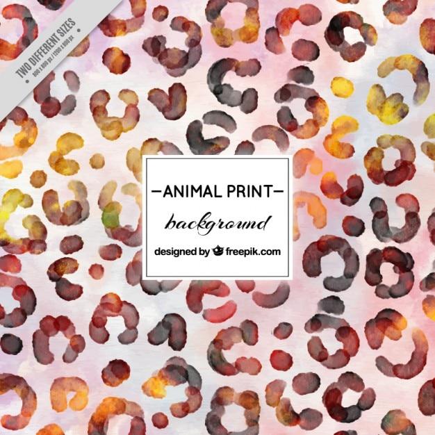 Acquerello macchie di leopardo sfondo Vettore gratuito