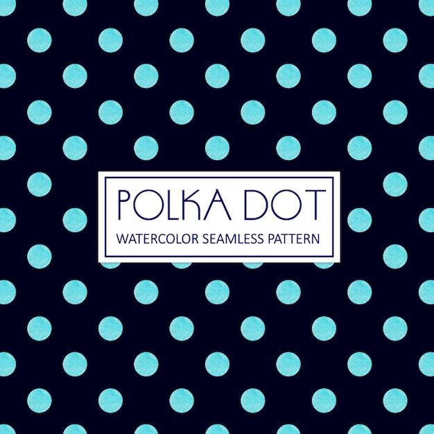 Acquerello polka dot sfondo Vettore gratuito