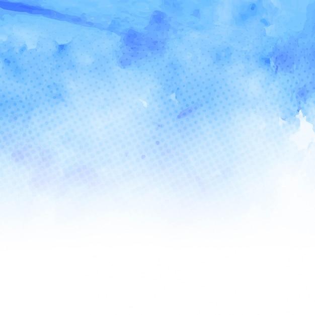 acquerello sfondo blu Vettore gratuito