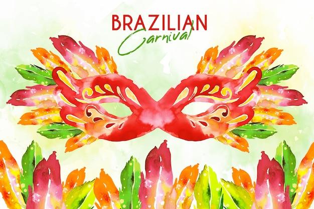 Acquerello sfondo carnevale brasiliano Vettore gratuito