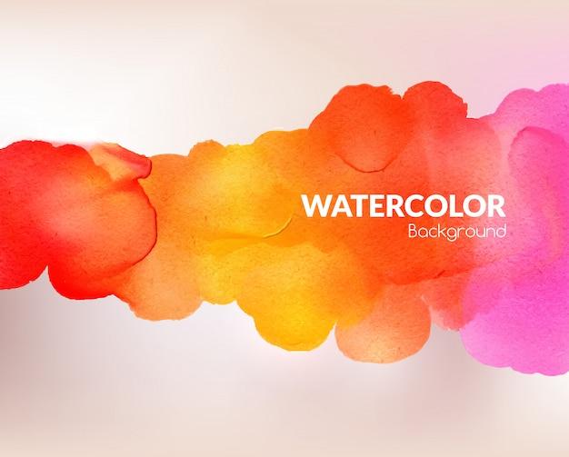 Acquerello sfondo colorato Vettore Premium