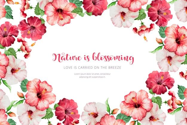 Acquerello sfondo floreale Vettore gratuito