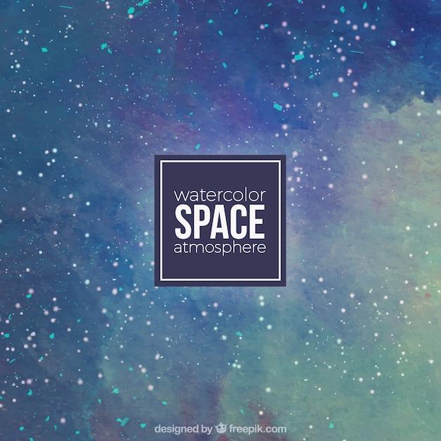 Acquerello sfondo spaziale Vettore gratuito