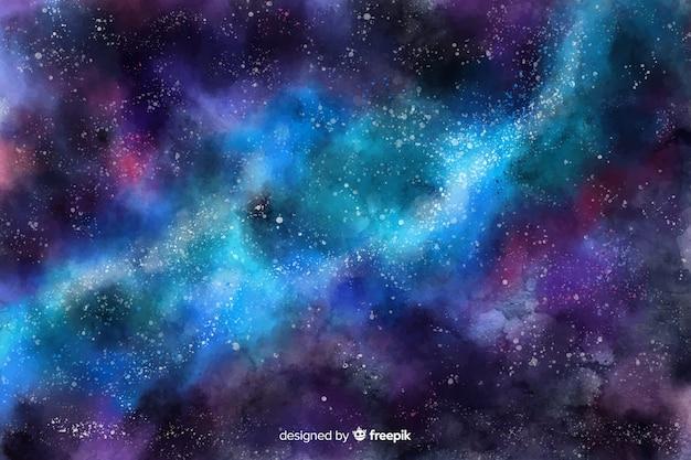 Acquerello sfondo stellato di notte Vettore gratuito