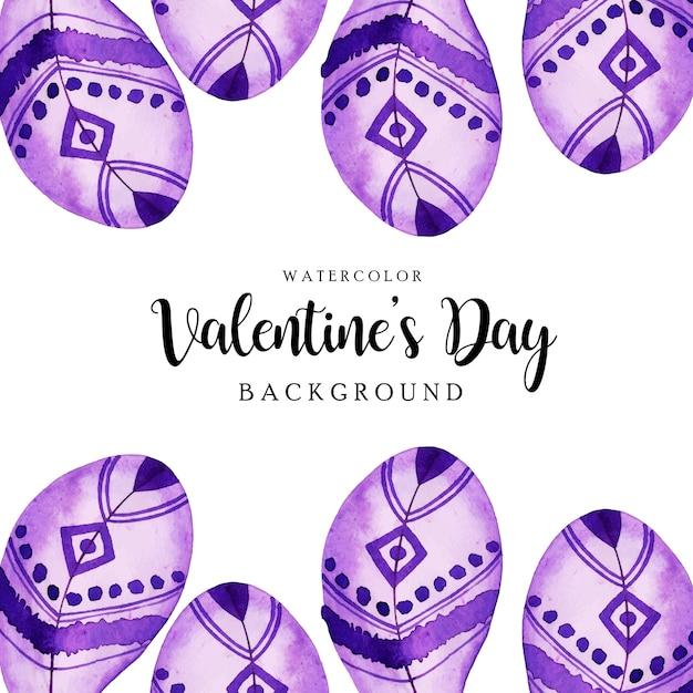 Acquerello valentine feather background Vettore Premium