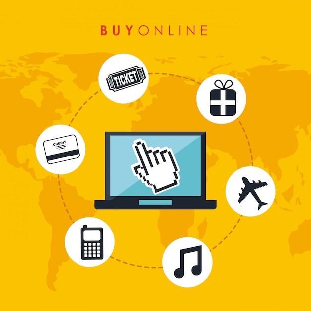 Acquista il design on line Vettore Premium