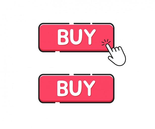 Acquista l'icona del pulsante. fai clic sul pulsante acquista Vettore Premium