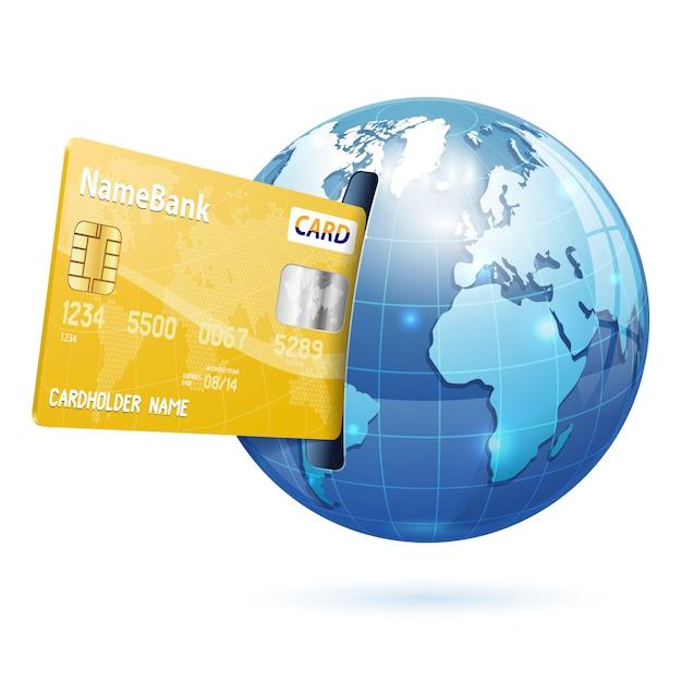 Acquisti via internet e pagamenti elettronici Vettore Premium