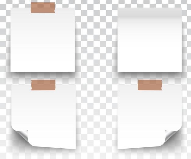 Adesivi bianchi quadrati Vettore Premium