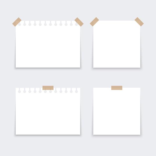 Adesivi bianchi quadrati. Vettore Premium