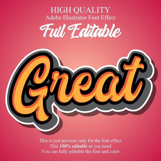 Adesivi per script moderni tipografici modificabili effetto font Vettore Premium