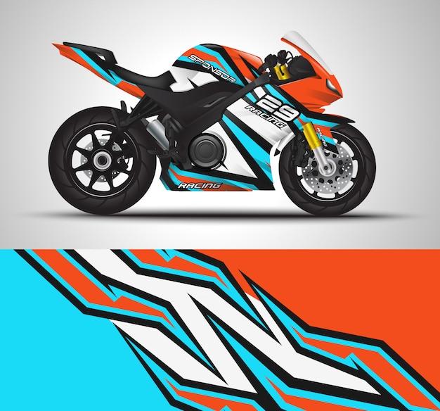 Adesivo con rivestimento per moto e adesivo in vinile Vettore Premium