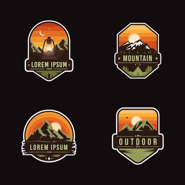 Adventure badge park Vettore Premium