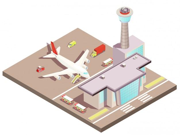 Aeroporto isometrico Vettore gratuito
