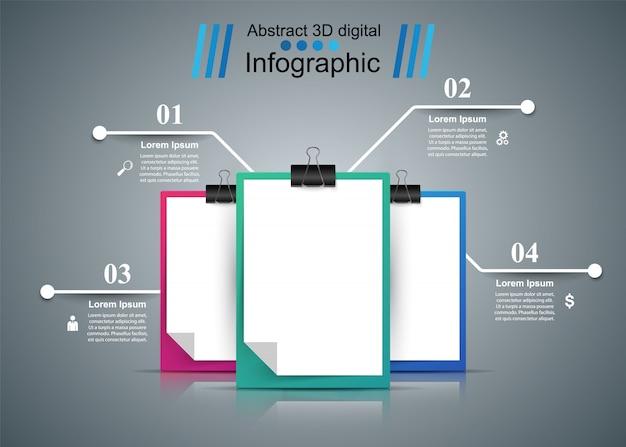 Affari, educazione, ufficio - modello di business infografica Vettore Premium