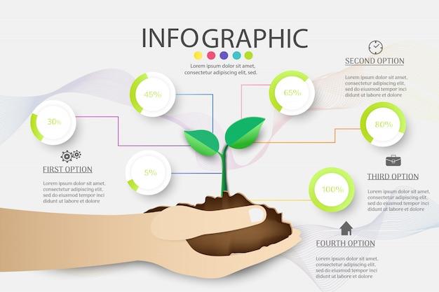 Affari infografica Vettore Premium