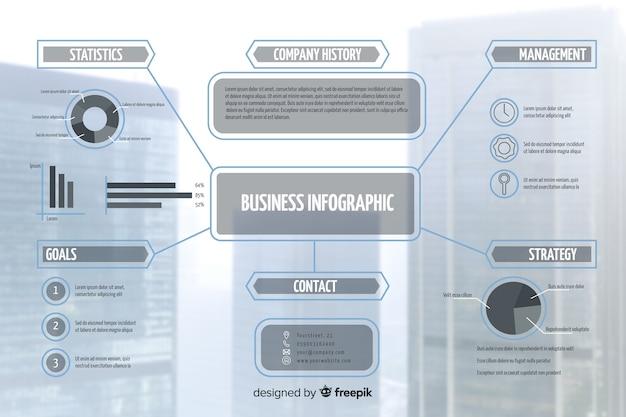 Affari moderni infografica con foto Vettore gratuito
