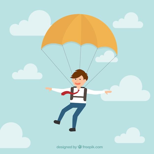 Affari paracadutista Vettore gratuito