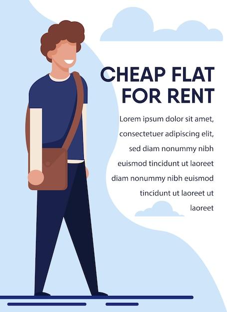 Affitto di appartamenti economici per studenti Vettore Premium