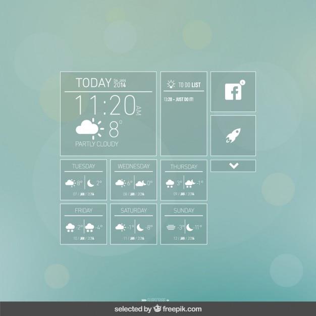 Agenti atmosferici app Vettore gratuito