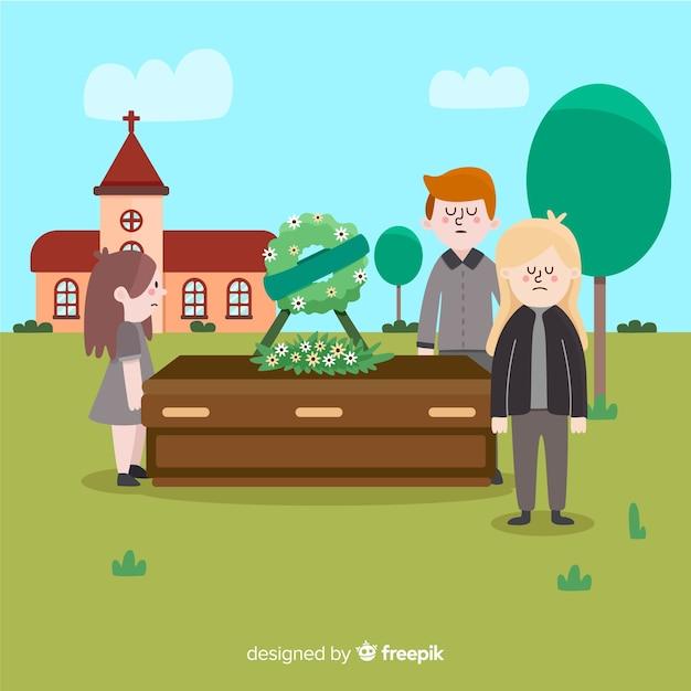 Agenzia funeraria Vettore gratuito