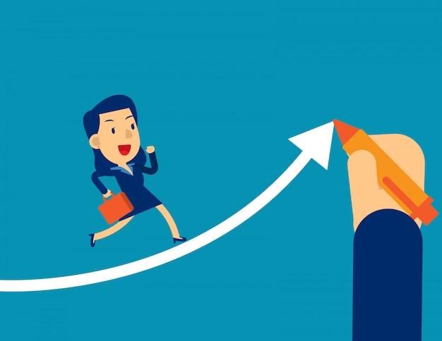Aiuta i dirigenti d'affari ad avere successo Vettore Premium