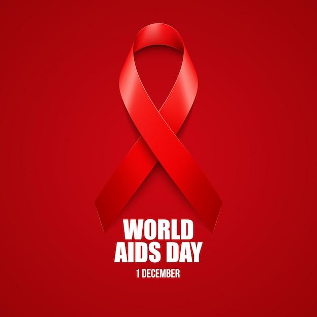 Aiuta la consapevolezza. concetto di giornata mondiale dell'aids. Vettore Premium