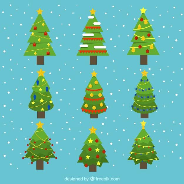 Disegni Di Natale Vettoriali.Alberi Di Natale Decorativi Con Disegni Geometrici Scaricare