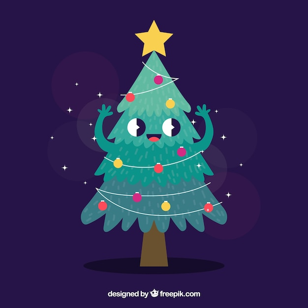 Foto Di Natale Animate Gratis.Albero Di Natale Come Un Personaggio Dei Cartoni Animati