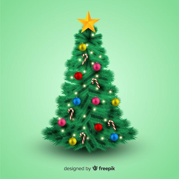 Albero Di Natale Realistico Scaricare Vettori Gratis