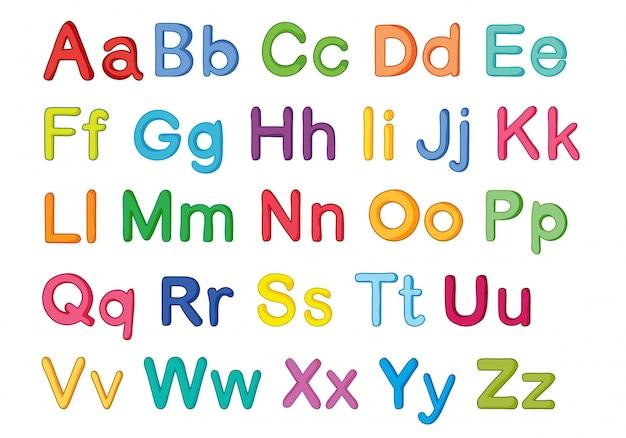 Alfabeti inglesi Vettore gratuito