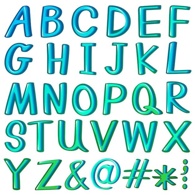 Alfabeti Vettore gratuito