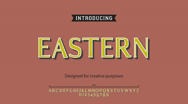Alfabeto carattere orientale Vettore Premium