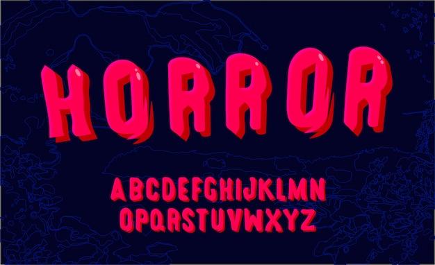 Alfabeto divertente rosa. carattere disegnato a mano. vettore modificabile dell'alfabeto moderno audace. Vettore Premium