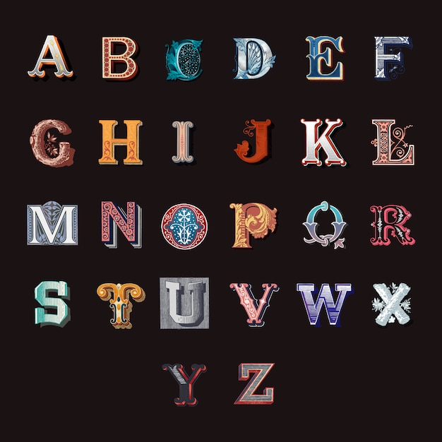Alfabeto Vettore gratuito