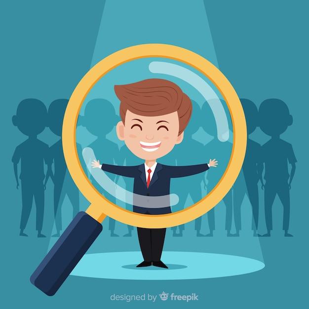 Alla ricerca di uno sfondo di talento Vettore gratuito